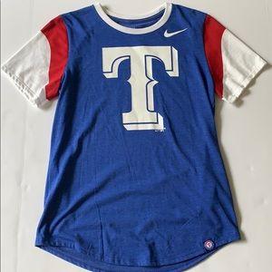NWOT NIKE Texas Rangers Tee S